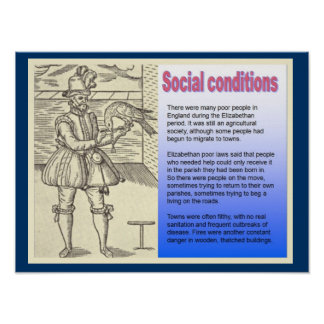 History Social conditions in Shakespeare s time Poster