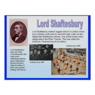 History, Social Studies, Lord Shaftesbury Poster