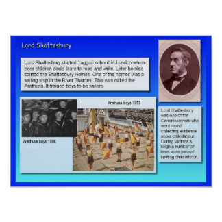 History, Social Studies, Lord Shaftesbury Poster