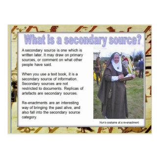 History, Sources, Secondary sources Postcard