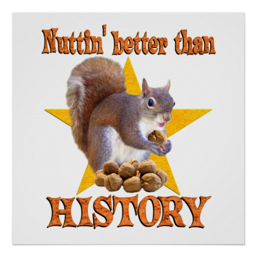 History Squirrel Posters