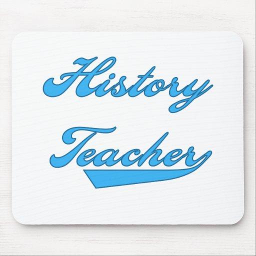 History Teacher Blue Mouse Mats
