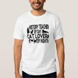 History Teacher Cat Lover Tshirts