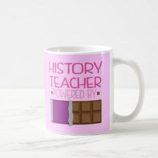 History Teacher Chocolate Gift for Her Basic White Mug