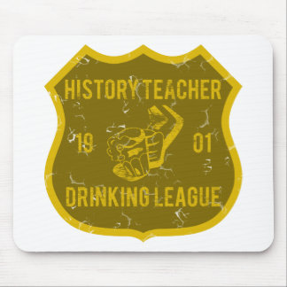 History Teacher Drinking League Mouse Pad