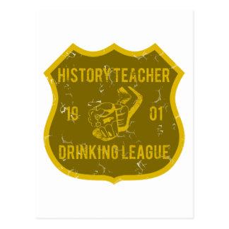 History Teacher Drinking League Postcard