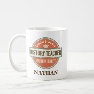 History Teacher Personalized Office Mug Gift
