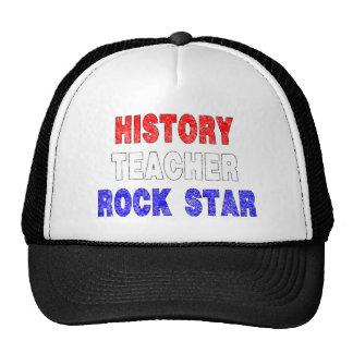 History Teacher Rock Star  (Distressed) Cap