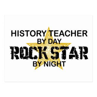History Teacher Rock Star Postcard