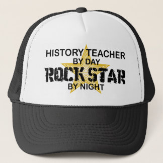 History Teacher Rock Star Trucker Hat