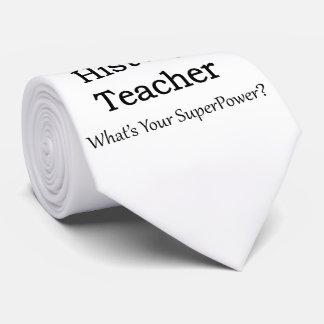 History Teacher Tie