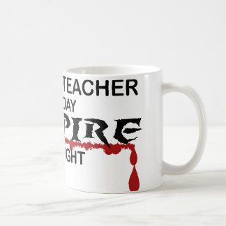 History Teacher Vampire by Night Basic White Mug