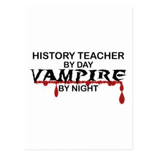 History Teacher Vampire by Night Postcard