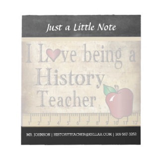 History Teacher   Vintage Style Notepad