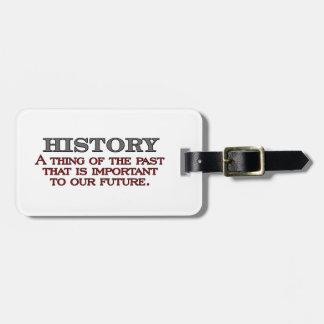 History Travel Bag Tags