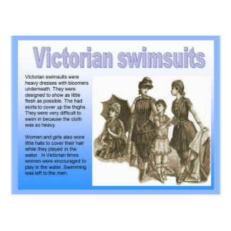 History, Victorian, seaside, swimsuits Post Card
