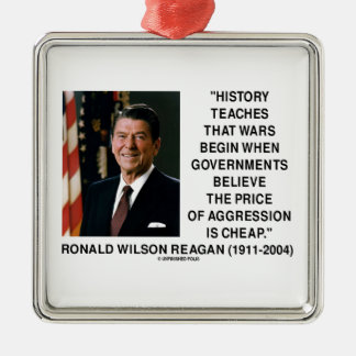 History Wars Begin Price Of Aggression Is Cheap Silver-Colored Square Decoration