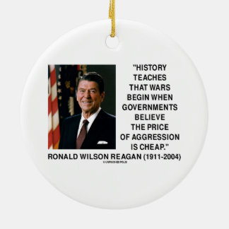 History Wars Begin Price Of Aggression Is Cheap Round Ceramic Decoration