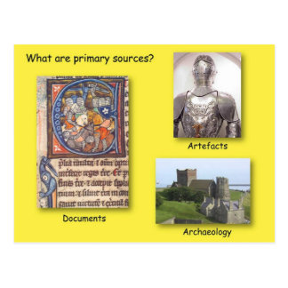 History, What are primary sources? Postcard