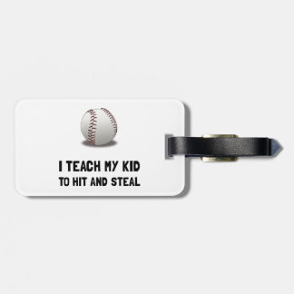 Hit And Steal Baseball Luggage Tag