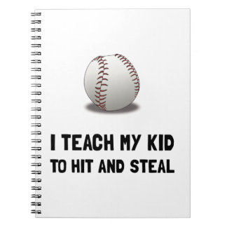 Hit And Steal Baseball Note Books
