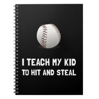 Hit And Steal Baseball Spiral Note Book