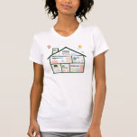 Hit Home (Womens American Apparel) T-Shirt