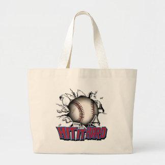 Hit It Hard Baseball Bags & Totes