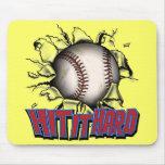 Hit It Hard Baseball Mousepad
