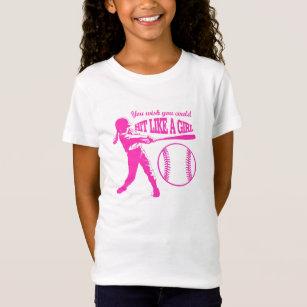 Hit Like A Girl - Baseball T T-Shirt