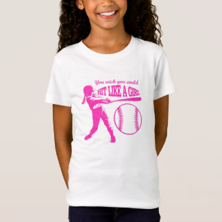 Hit Like A Girl - Baseball T T-Shirt