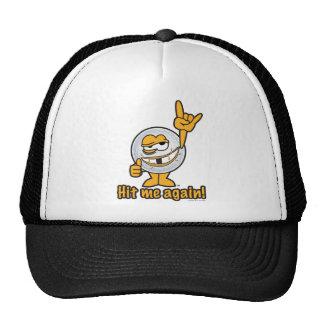 Hit Me Again Cartoon Golf Ball Trucker Hat