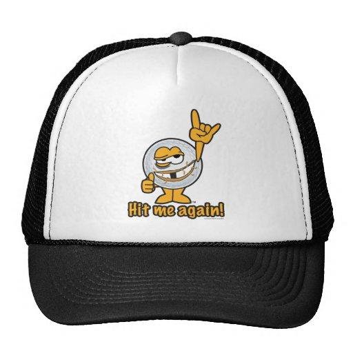 Hit Me Again Cartoon Golf Ball Hats