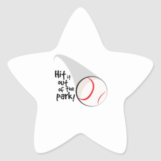 Hit Out Park! Star Sticker