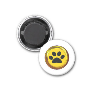 HIT THE 'PAWS' BUTTON (Get it! Pause Button!) ~ 3 Cm Round Magnet