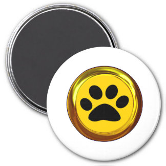HIT THE 'PAWS' BUTTON (Get it! Pause Button!) ~ 7.5 Cm Round Magnet