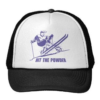 Hit The Powder - Snow Skiing / Skier Trucker Hats