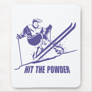 Hit The Powder - Snow Skiing / Skier Mouse Pad