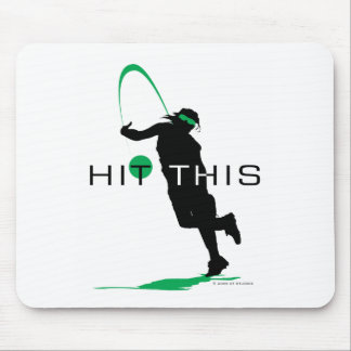 Hit This Green Pitcher Softball Mouse Pad
