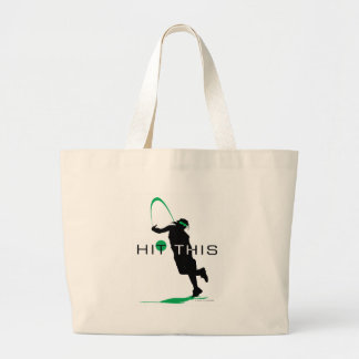 Hit This Green Pitcher Softball Tote Bag