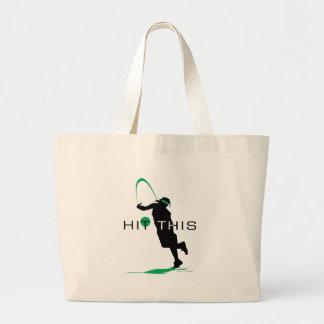 Hit This Green Pitcher Softball Jumbo Tote Bag