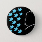 Hitch and Tweets 6 Cm Round Badge