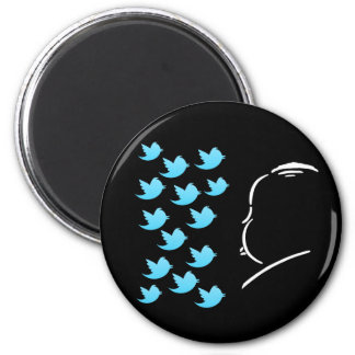 Hitch and Tweets 6 Cm Round Magnet