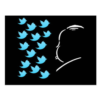 Hitch and Tweets Postcard