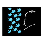 Hitch and Tweets Tarjeta Postal