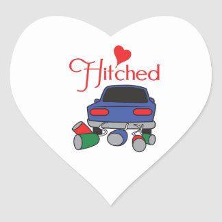 HITCHED HEART STICKER