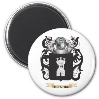 Hitchen Coat of Arms (Family Crest) 6 Cm Round Magnet