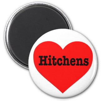 """HITCHENS HEART"" 6 CM ROUND MAGNET"
