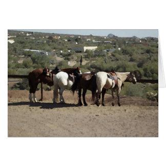 Hitching Post Horses in Arizona Card