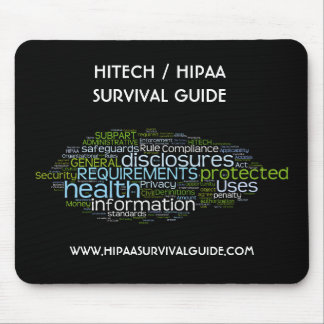 HITECH / HIPAA SURVIVAL GUIDE MOUSE PAD